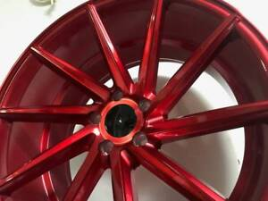 20 Staggered Candy Red Swirl Style Wheels Rims Fits 5x114 Jdm Honda Accord 2018