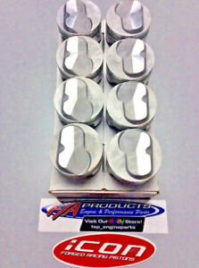 427 Big Block Chevy Icon Fhr Series Forged Piston Ic9958 030 Set Of 8