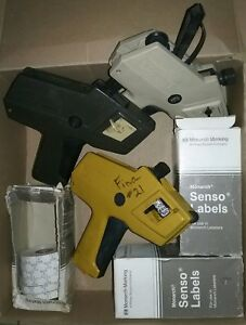 3 Price Labeling Guns For Parts Or Repair With 40 Rolls Of Labels Monarch 1110
