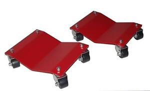 Auto Dolly M998104 Wheel Dollies Car Steel Red 2 500 Lbs Per Dolly Pair