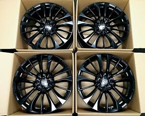 4 Factory Infiniti Q60 19 Oem Staggered Wheels G37 Coupe Black Rims