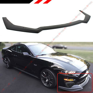 For 2018 19 Mustang Gt Performance Style Pp Add On Front Bumper Lip Splitter