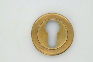 Vtg Ant Style Escutcheon Brass Key Hole Cover Furniture Drawer Hardware 2 E21