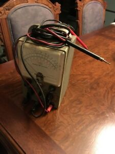 Vintage Healthkit Model V 6 Vacuum Tube Voltmeter With Probes Powers On