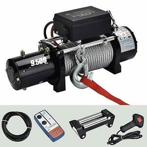 9500lbs 12v Electric Recovery Winch Towing Truck Trailer Steel Wire Off Road