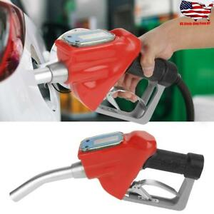 Ac 15a Digital Fuel Oil 1 Gasoline Nozzle Gun Fueling Nozzle W Flow Meter