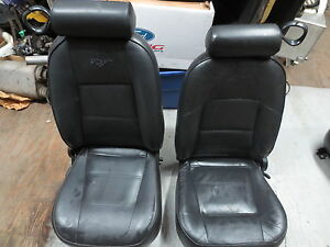 1999 2004 Ford Mustang Black Leather Seats Gt V6 Bullit Cobra 99 00 01 02 03 04