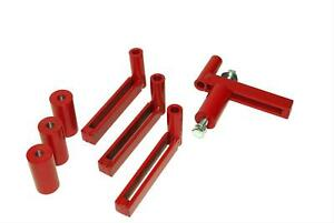 Auto Dolly M998082 Engine Stand Adapter Steel Red 4 Adjustable Arms Each