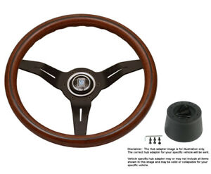 Nardi Steering Wheel Deep Corn 330 Mm Wood W Hub For Mitsubishi Montero 92 On