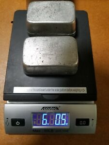 Tin Metal Ingots 6 Pounds In Two Bars