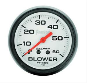 Autometer Phantom Mechanical Blower Pressure Gauge 2 5 8 Dia White Face 5802