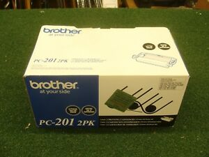 New Genuine Brother Pc 201 2pk Fax Printing Cartridge Free Shipping