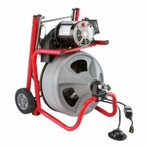 Ridgid 115 volt K 400 Drain Cleaning Drum Machine W c 32 3 8 In Cable And Tool