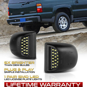 2000 2006 Chevy Tahoe Suburban Gmc Yukon Xl Led License Plate Light Housing Pair