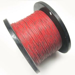 New Approx 4000ft 18awg Red Hook Up Wire W Green Stripe 300v Electrical
