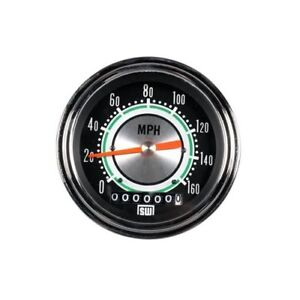Stewart Warner Green Line Speedometer 0 160 Mph 3 3 8 Dia Electrical 530dh