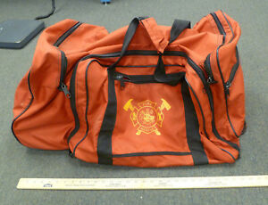 Red Firefighter Turnout Gear Bag With Wheels 30 X 15 X 18