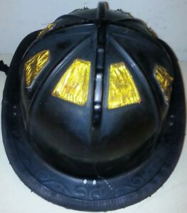 Firefighter Bunker Turn Out Gear Cairns 1010 Black Helmet Reflector H64