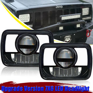 7x6 Black Clear Headlight Conversion 45w Led Chevy Express Van 1500 2500 3500