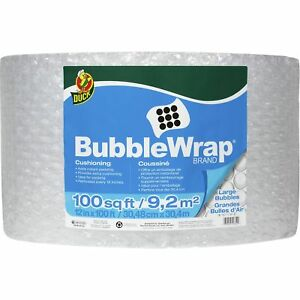 Duck Brand Large Bubble Wrap Cushioning 12 In X 100 Ft Clear 12 X 100 Ft