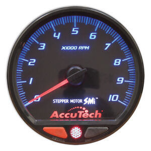 Longacre Racing Products 44384 Accutech Smi Stepper Tach 4 1 2 Diameter Black