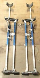 ma1 Pair Of Marshalltown Skywalker Adjustable 24 40 Inch Drywall Stilts
