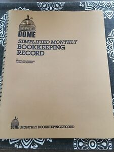 Dome 612 Simplified Monthly Bookkeeping Record New