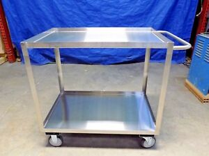 Jamco Stainless Steel Cart 2 Shelf 24 w X 36 l X 35 h 1200 Lb Capacity Xb236u500