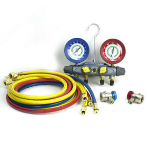 Yellow Jacket 46101 Brute 4 Valve Manifold Set 72 Hoses