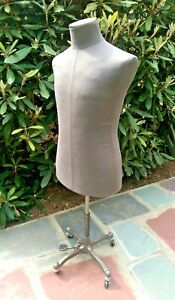 Male Jacket Form Shirt Mannequin Torso Gray Linen Display Stand Wolf Pro