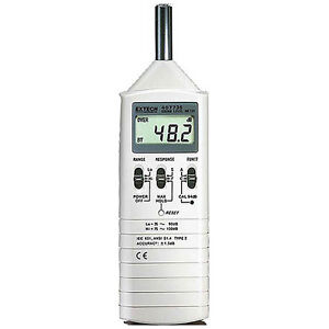 Extech 407736 Dual Range Sound Lever Meter Provides 1 5db Accuracy