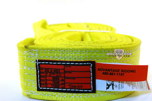 Ee2 903 X20ft Nylon Lifting Sling Strap 3 Inch 2 Ply 20 Foot Length Usa Made