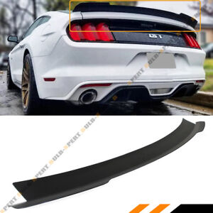 For 2015 2019 Ford Mustang Matt Black Highkick Duckbill Trunk Lid Spoiler Wing