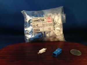 100 Fiber Optic Ssc pe S5 Connector Adapter 3mm White Blue Type 0012510300