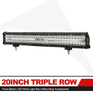 18w Cree Led 8x 4inch Flood Work Light Bar Off Road 4wd Atv Suv Fog Driving Lamp