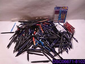 Qty 300 Mix Lot Of Ink Pens Blue Black Ink See Photo