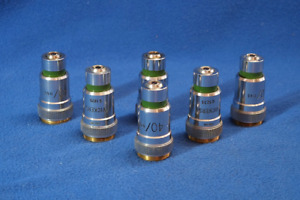 Vickers Microscope 40x 0 65 Objective Lot 6 Pcs Parts Or Repair