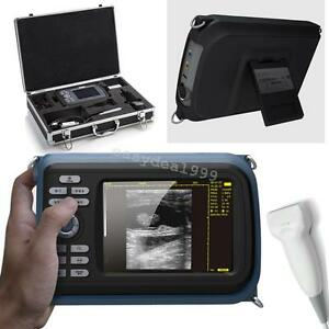 Lcd Portable Full Digital Ultrasound Scanner Machine Linear Probe gift Oximeter