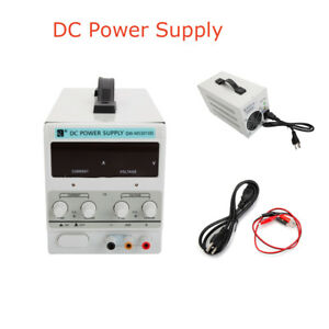 30v 10a 110v Dc Power Supply Precision Digital Variable W clip Cable Durable