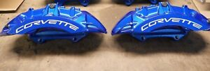 Front Set Zr1 Blue Corvette Calipers 09 13 Corvette 25923821 22 Brembo