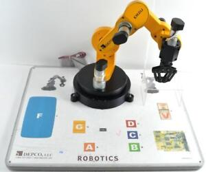 Depco Er2u Robotic Arm Used Working With Controller