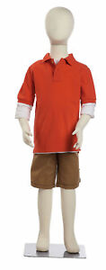 Bendable 7 Year Old Kid s Child Mannequin Boy Girl Unisex Form Kid 47 Tall