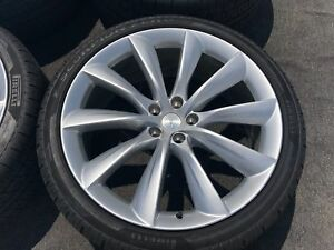 4 Genuine Tesla Model X 22 Inch Wheels Tires Rims Tpms 2018 Factory Oem Oem