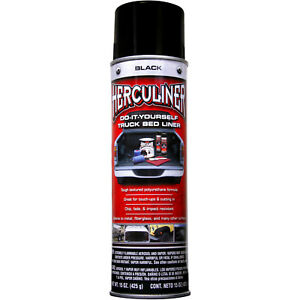 Herculiner Truck Bed Liner Black 15 Oz Skid Resistant Protective Rust Coating