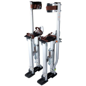 24 40 Adjustable Aluminum Drywall Stilts For Painting Painter Taping Silver