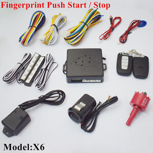 Fingerprint Type Push Button Start Stop Ignition Remote Security Keyless Entry