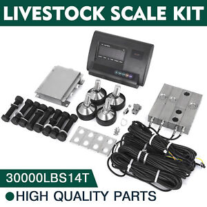 30000lbs Livestock Scale Kit For Animals Alloy Steel Load Cells Indicator Hot