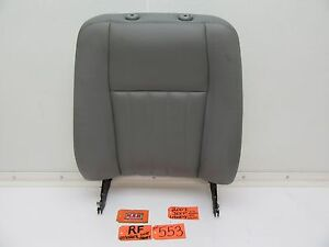 Fits 07 Liberty Right Front Seat Upper Top Back Rh R Passenger Side Grey Leather