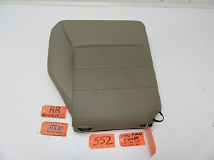 05 06 07 Ford Escape Right Rear Seat Back Pad Upper Top Passenger Rr Tan Leather