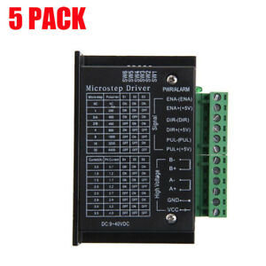 5pcs Tb6600 Cnc Single Axis 4a 2 4 Phase Hybrid Stepper Motor Drivers Controller